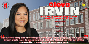 Teacher of the Year Spotlight - Oleva Irvin
