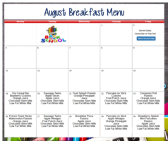 August Breakfast Menu