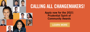 2021 Prudential Spirit of Community Awards Scholarship Opportunity