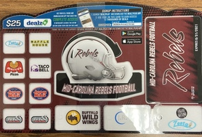 Football Team Selling Discount Cards!!!