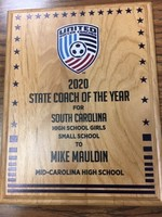 Mauldin Named Soccer Coach of the Year