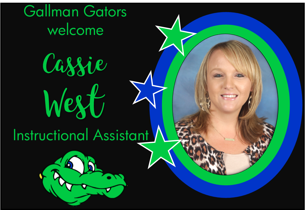 Cassie West, Instructional Assistant