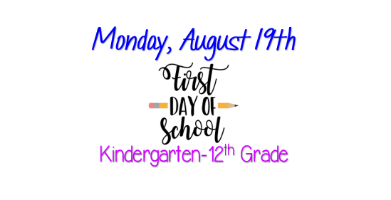 First Day for K-12th