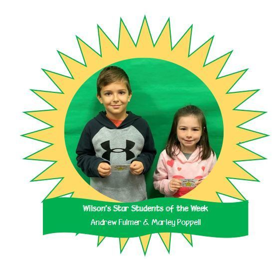 Wilson's Star Students of the Week