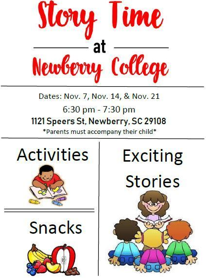 Story Time at Newberry College