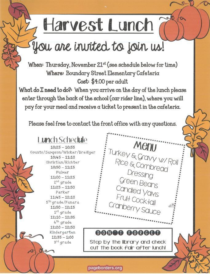 Harvest Meal Invitation