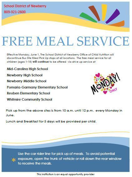 June Meal Service Flyer