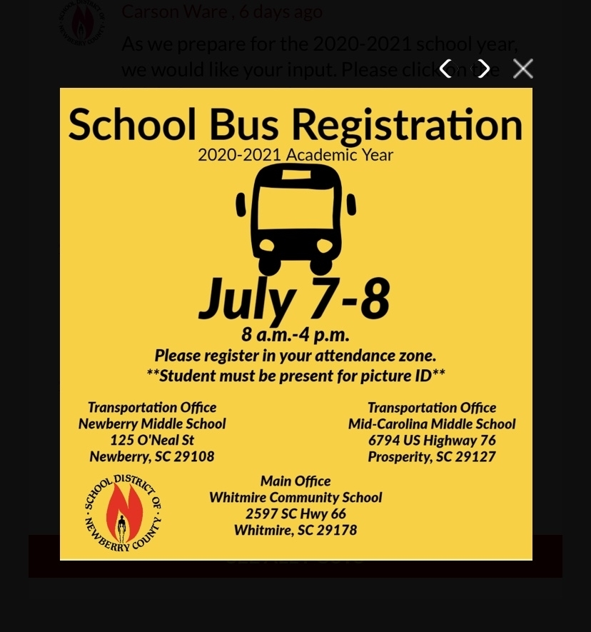 School bus registration