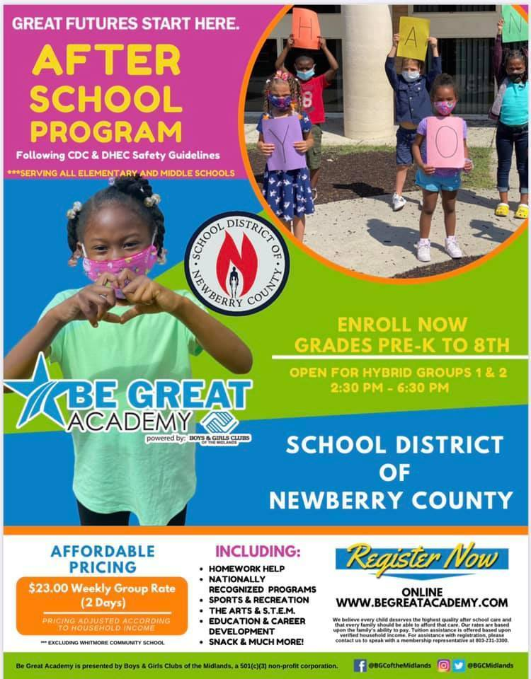 Info about Be Great Academy