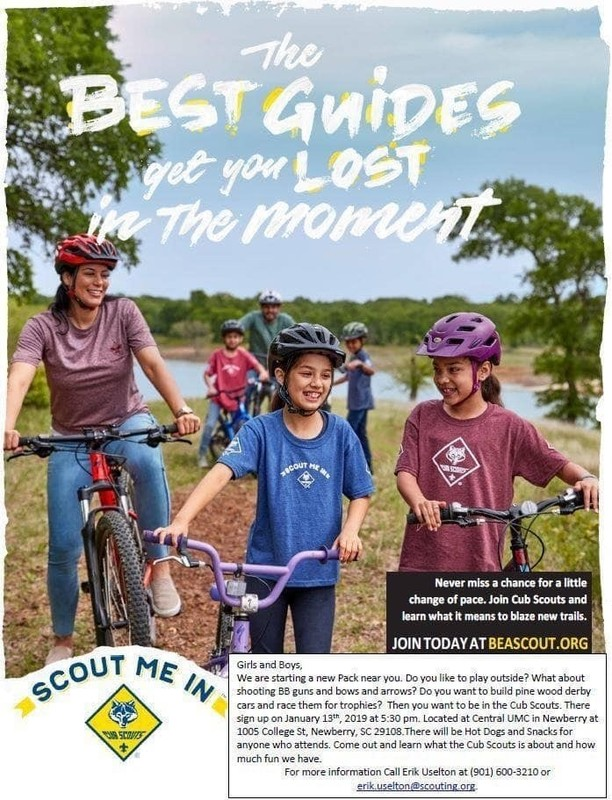 Central United Methodist Church Girl Scout Flyer